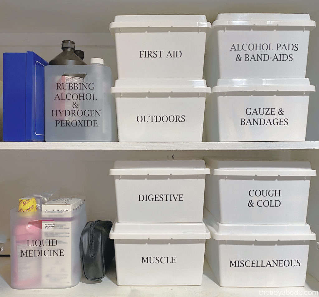 How To Organize Your Medicine Cabinet The Tidy Abode